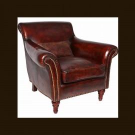 Luxusní kožené Chesterfield křeslo SOKRATES